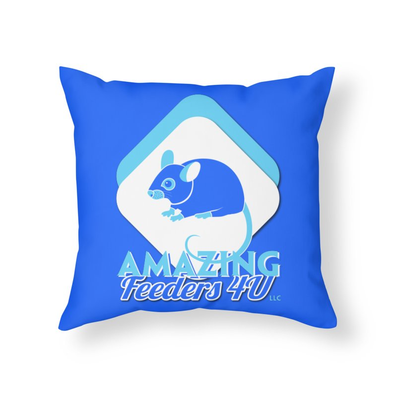 Amazing Feeders 4U Home Throw Pillow by Drawn to Scales
