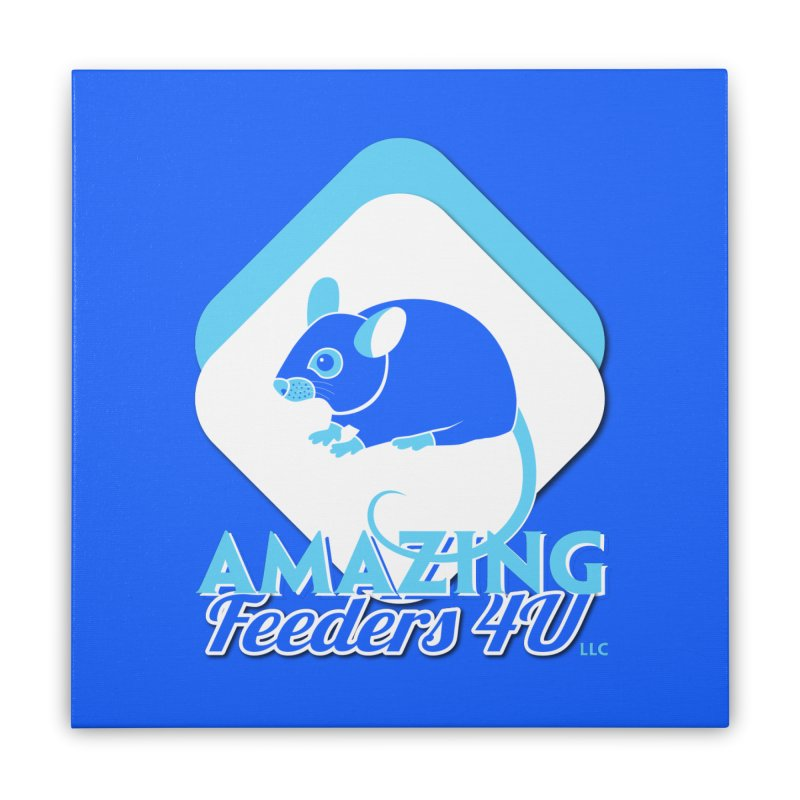 Amazing Feeders 4U Home Stretched Canvas by Drawn to Scales