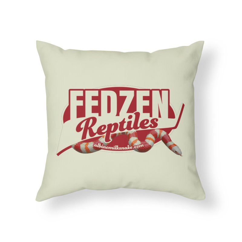 FEDZEN REPTILES Home Throw Pillow by Drawn to Scales