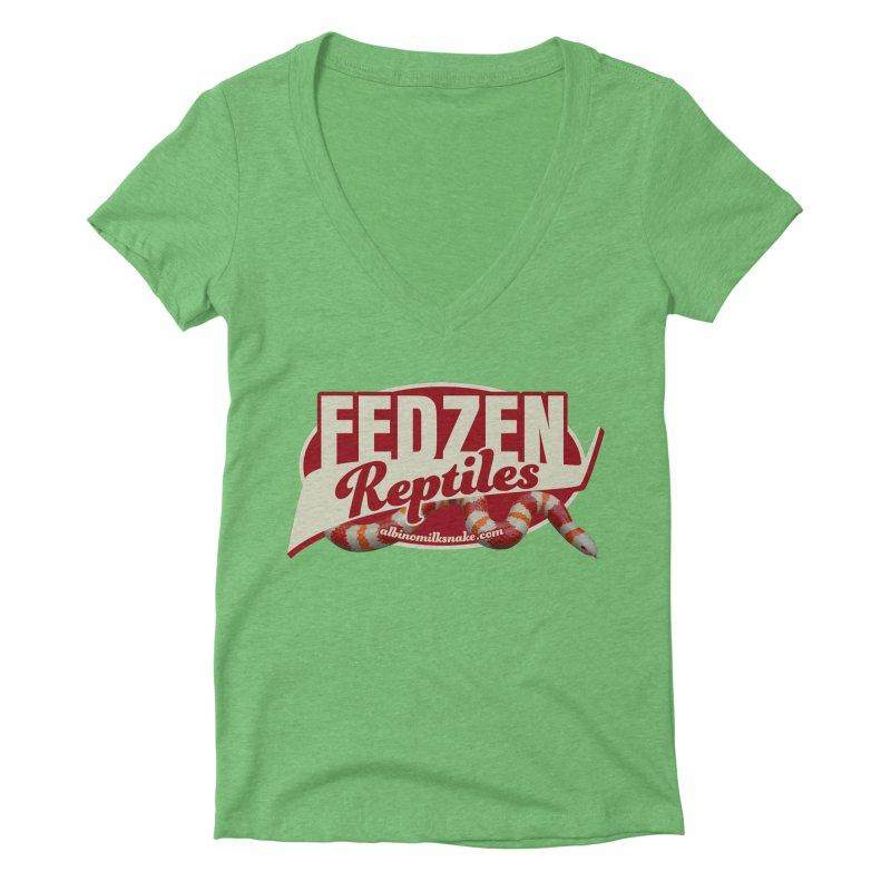 FEDZEN REPTILES Women's Deep V-Neck V-Neck by Drawn to Scales