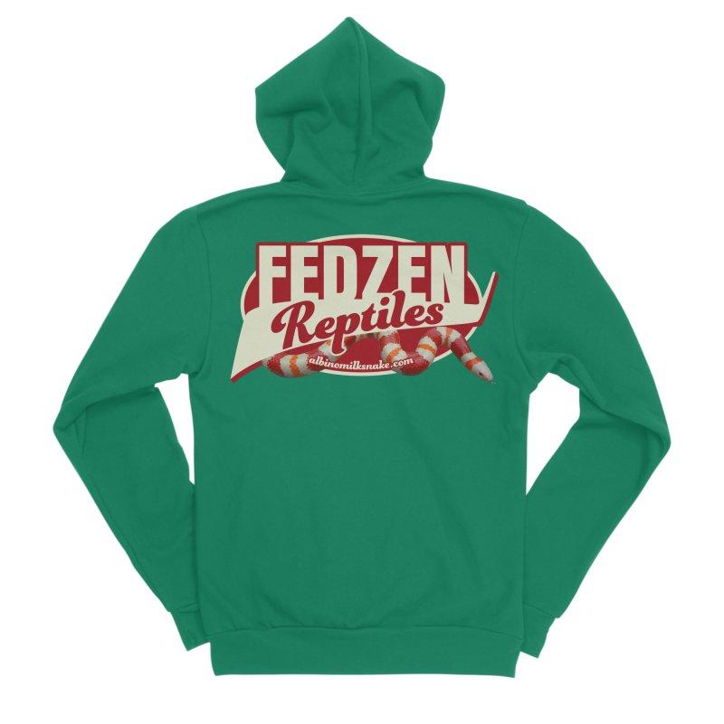 FEDZEN REPTILES Men's Sponge Fleece Zip-Up Hoody by Drawn to Scales