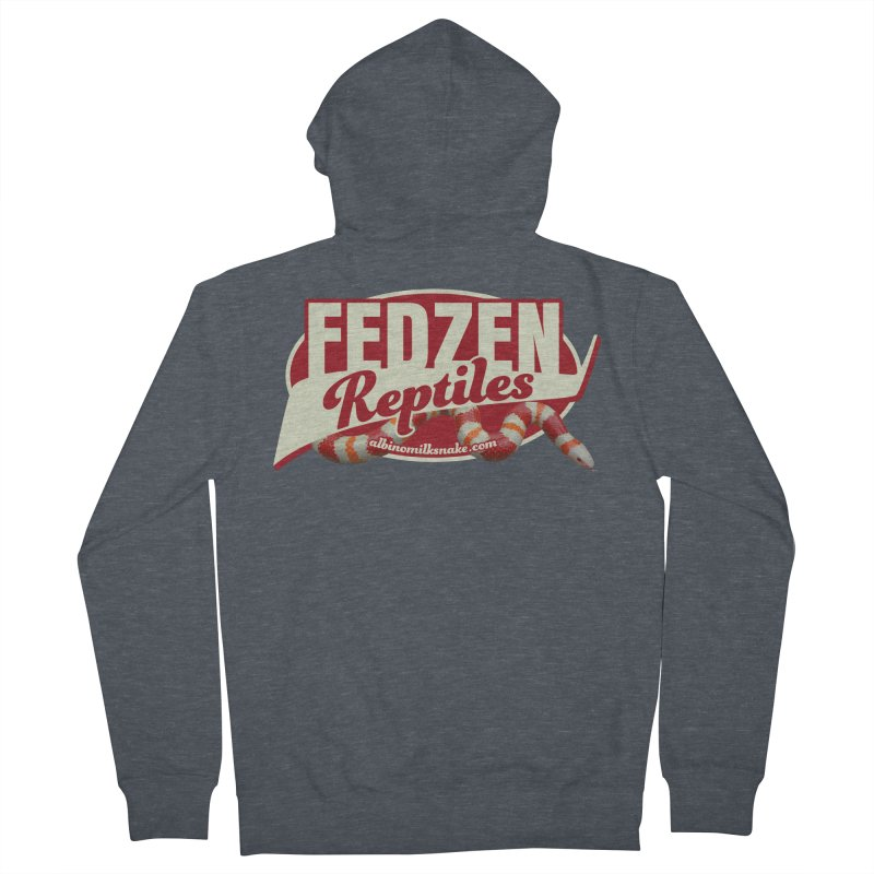 FEDZEN REPTILES Men's French Terry Zip-Up Hoody by Drawn to Scales