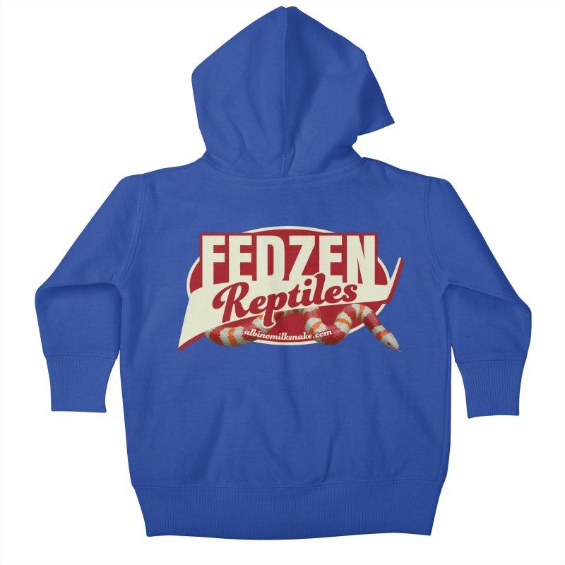 FEDZEN REPTILES Kids Baby Zip-Up Hoody by Drawn to Scales