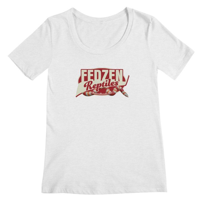 FEDZEN REPTILES Women's Regular Scoop Neck by Drawn to Scales