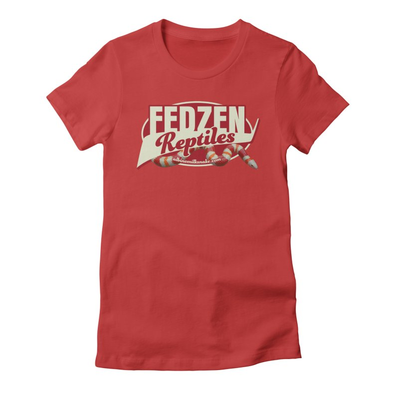 FEDZEN REPTILES Women's Fitted T-Shirt by Drawn to Scales