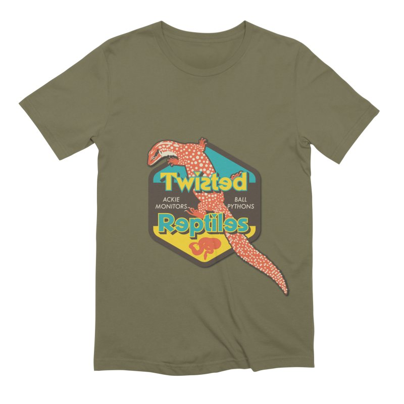 TWISTED REPTILES Men's Extra Soft T-Shirt by Drawn to Scales