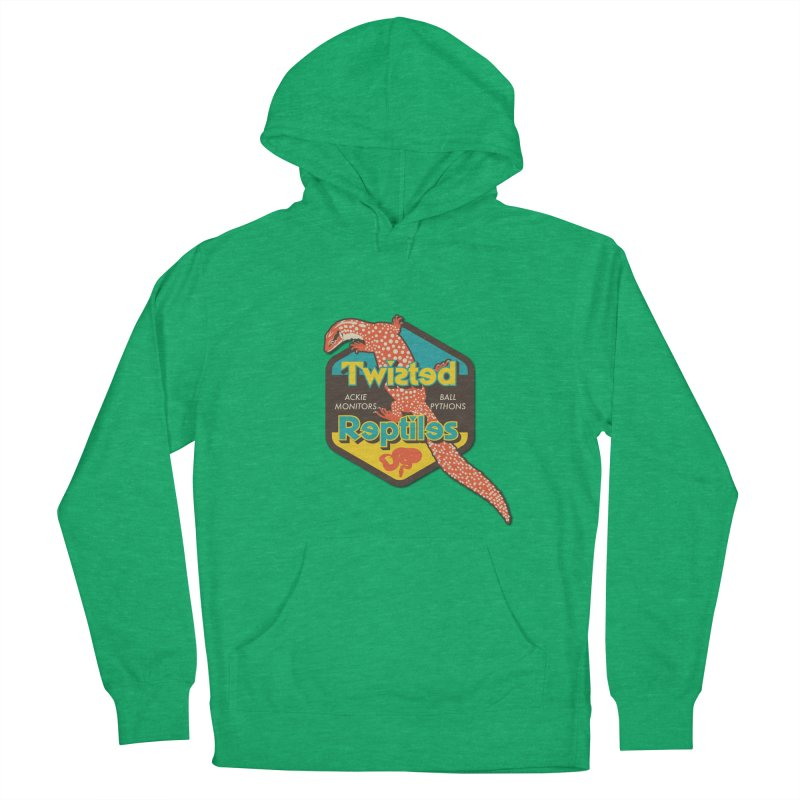 TWISTED REPTILES Women's French Terry Pullover Hoody by Drawn to Scales