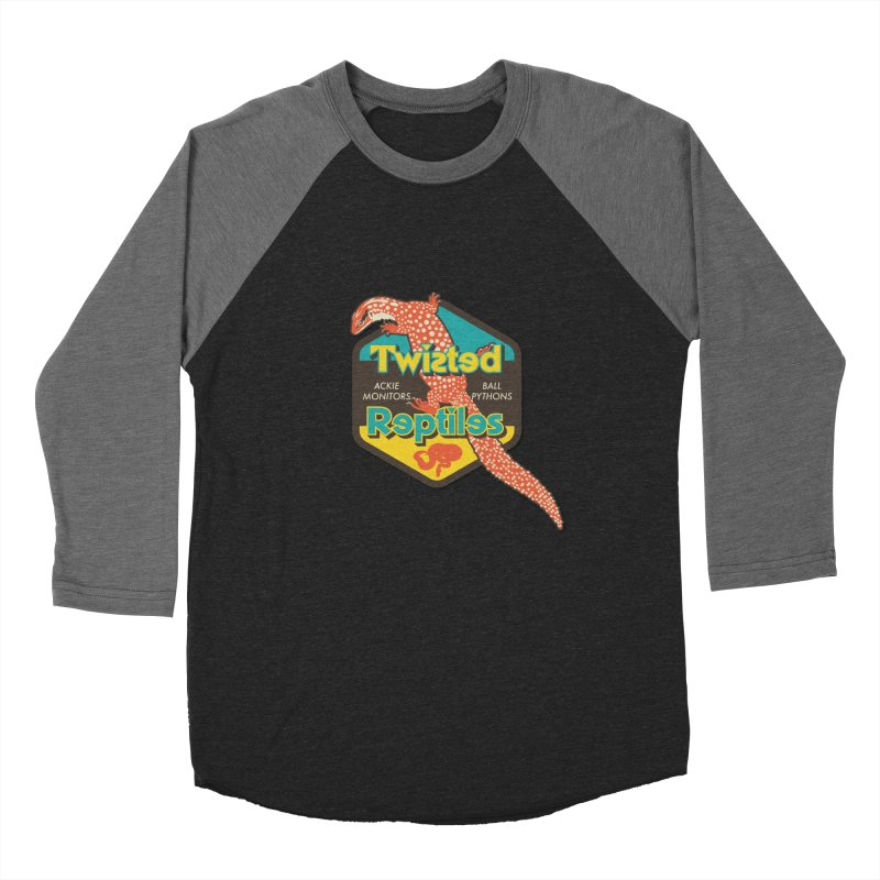 TWISTED REPTILES Men's Baseball Triblend Longsleeve T-Shirt by Drawn to Scales