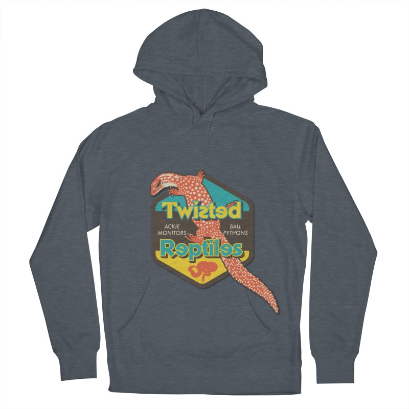 TWISTED REPTILES Men's French Terry Pullover Hoody by Drawn to Scales