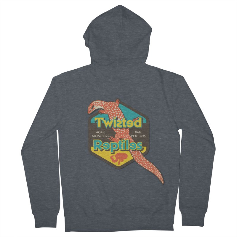 TWISTED REPTILES Men's French Terry Zip-Up Hoody by Drawn to Scales