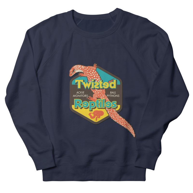 TWISTED REPTILES Women's French Terry Sweatshirt by Drawn to Scales