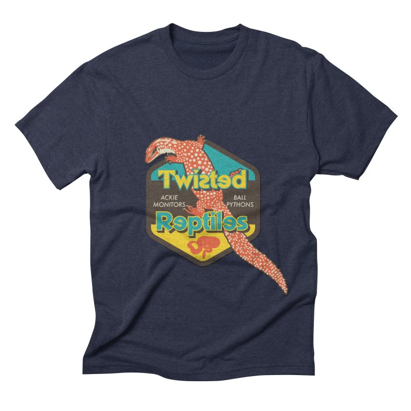 TWISTED REPTILES Men's Triblend T-Shirt by Drawn to Scales