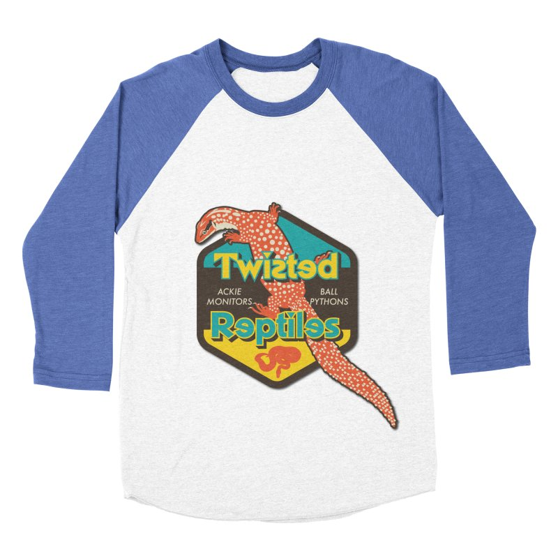 TWISTED REPTILES Women's Baseball Triblend Longsleeve T-Shirt by Drawn to Scales