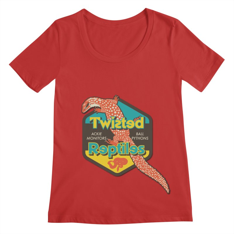 TWISTED REPTILES Women's Regular Scoop Neck by Drawn to Scales