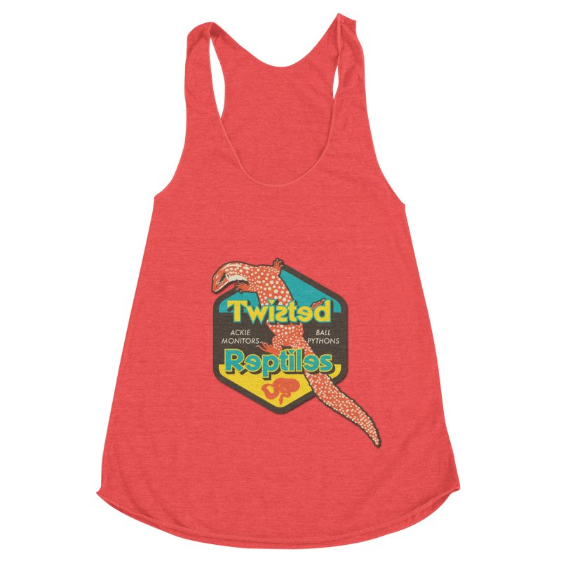 TWISTED REPTILES Women's Racerback Triblend Tank by Drawn to Scales