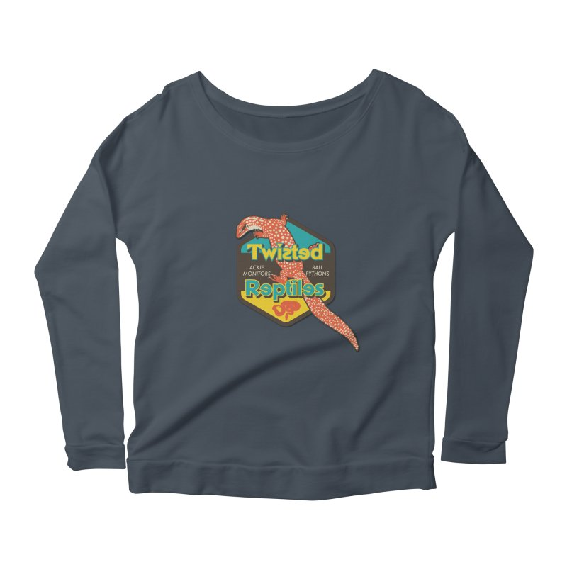 TWISTED REPTILES Women's Scoop Neck Longsleeve T-Shirt by Drawn to Scales