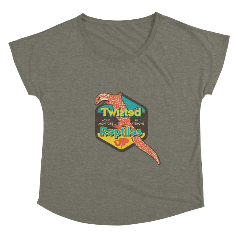 TWISTED REPTILES Women's Dolman Scoop Neck by Drawn to Scales
