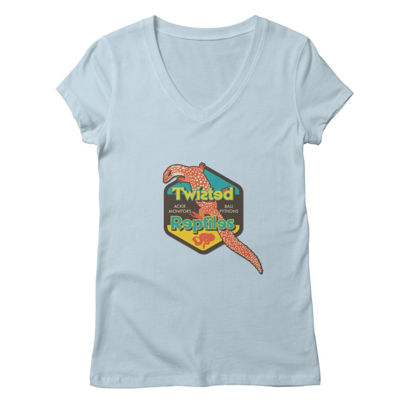 TWISTED REPTILES Women's Regular V-Neck by Drawn to Scales