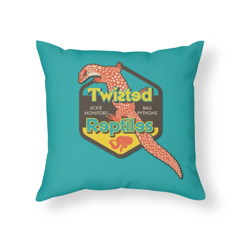 TWISTED REPTILES Home Throw Pillow by Drawn to Scales
