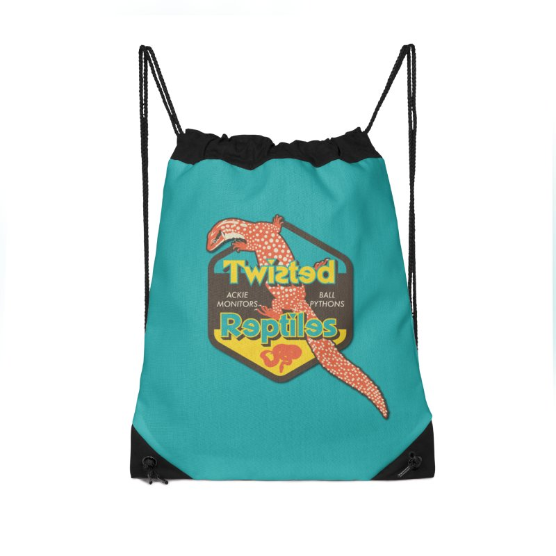 TWISTED REPTILES Accessories Drawstring Bag Bag by Drawn to Scales