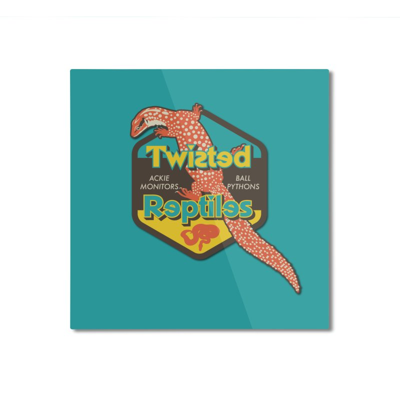 TWISTED REPTILES Home Mounted Aluminum Print by Drawn to Scales