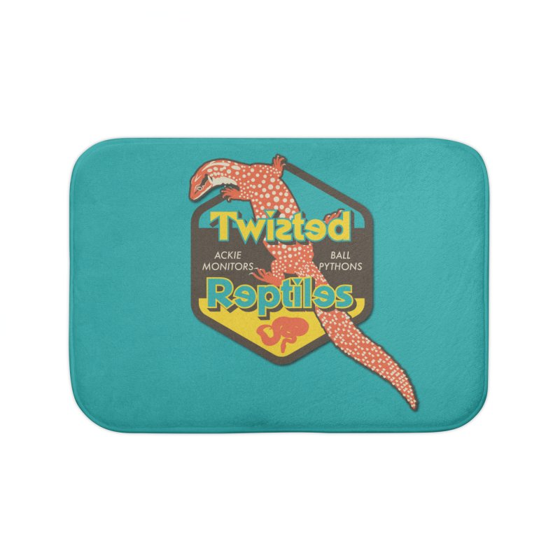 TWISTED REPTILES Home Bath Mat by Drawn to Scales