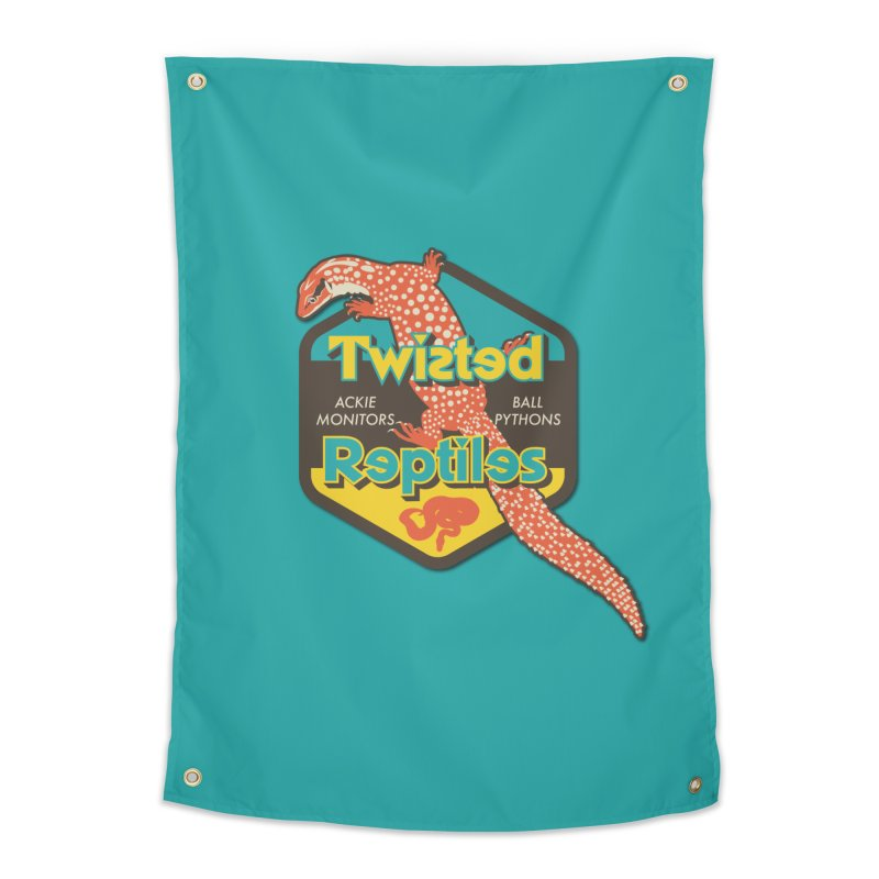 TWISTED REPTILES Home Tapestry by Drawn to Scales