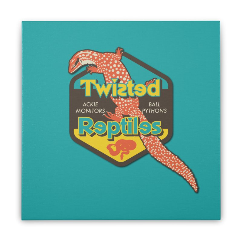 TWISTED REPTILES Home Stretched Canvas by Drawn to Scales
