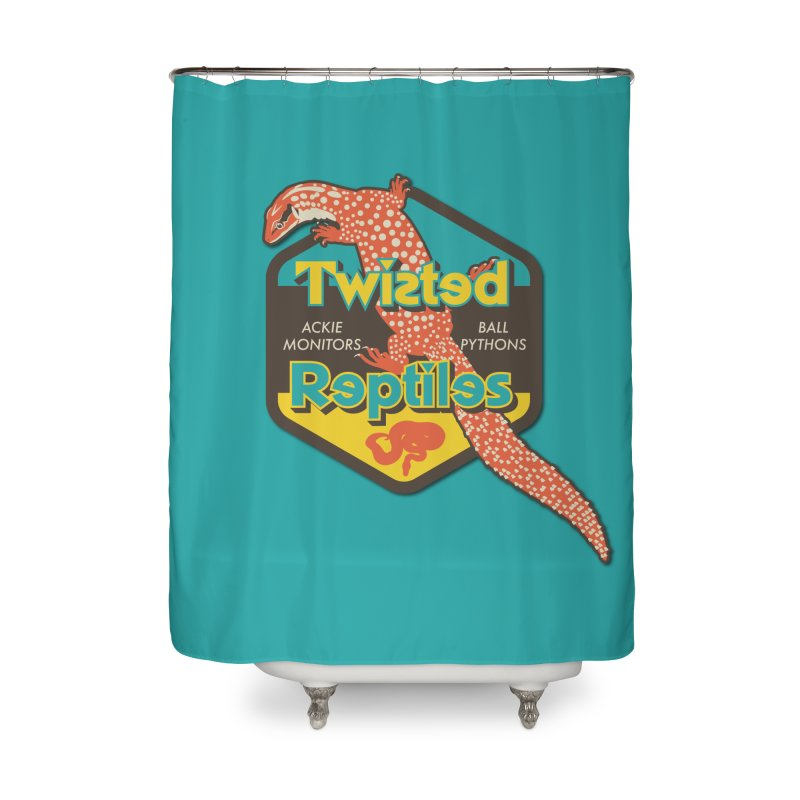 TWISTED REPTILES Home Shower Curtain by Drawn to Scales