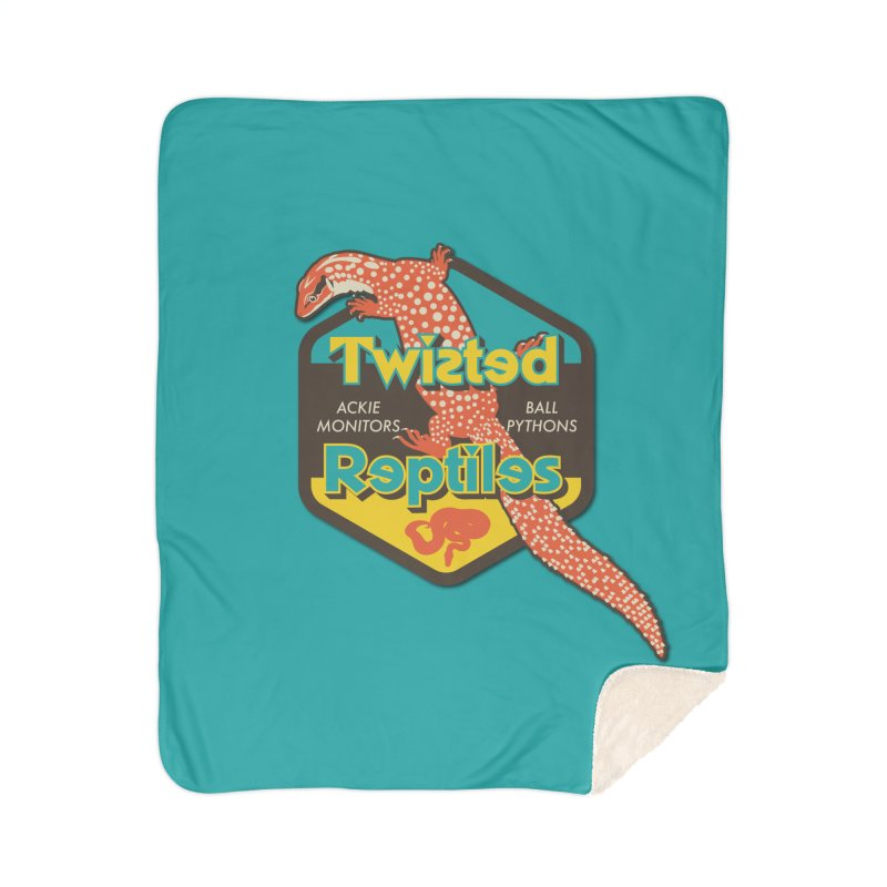 TWISTED REPTILES Home Sherpa Blanket Blanket by Drawn to Scales