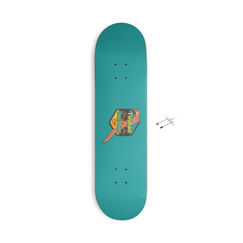 TWISTED REPTILES Accessories With Hanging Hardware Skateboard by Drawn to Scales