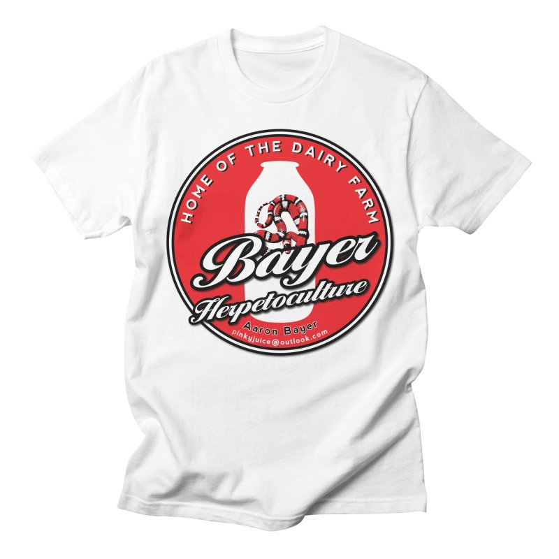 Bayer Herpetological in Men's Regular T-Shirt White by Drawn to Scales