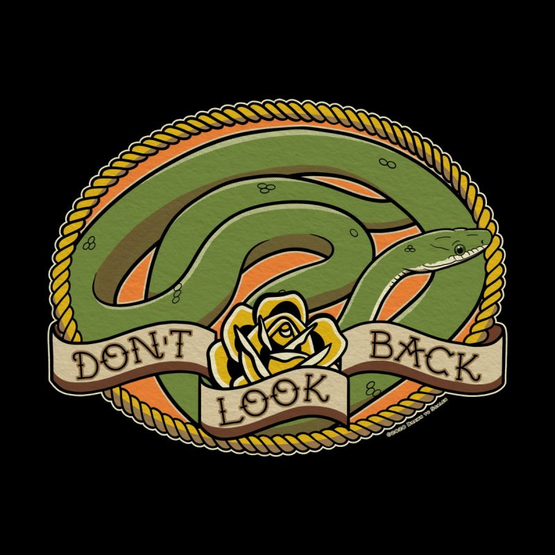 Don't Look Back Arizona Green Rat Snake Accessories Magnet by Drawn to Scales