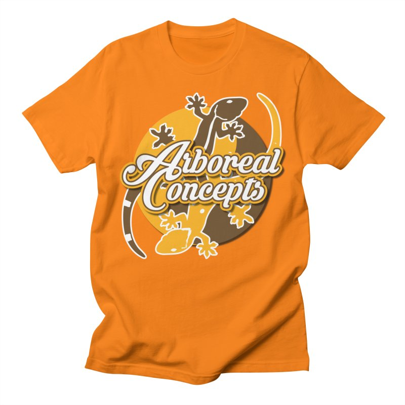 Arboreal Concepts in Men's Regular T-Shirt Orange by Drawn to Scales