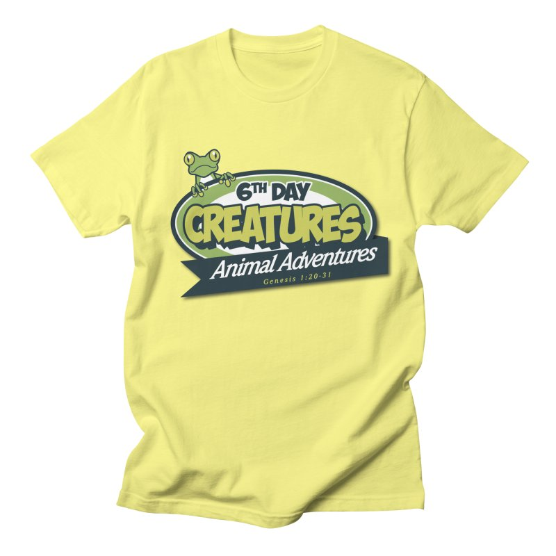6th Day Creatures in Men's Regular T-Shirt Lemon by Drawn to Scales