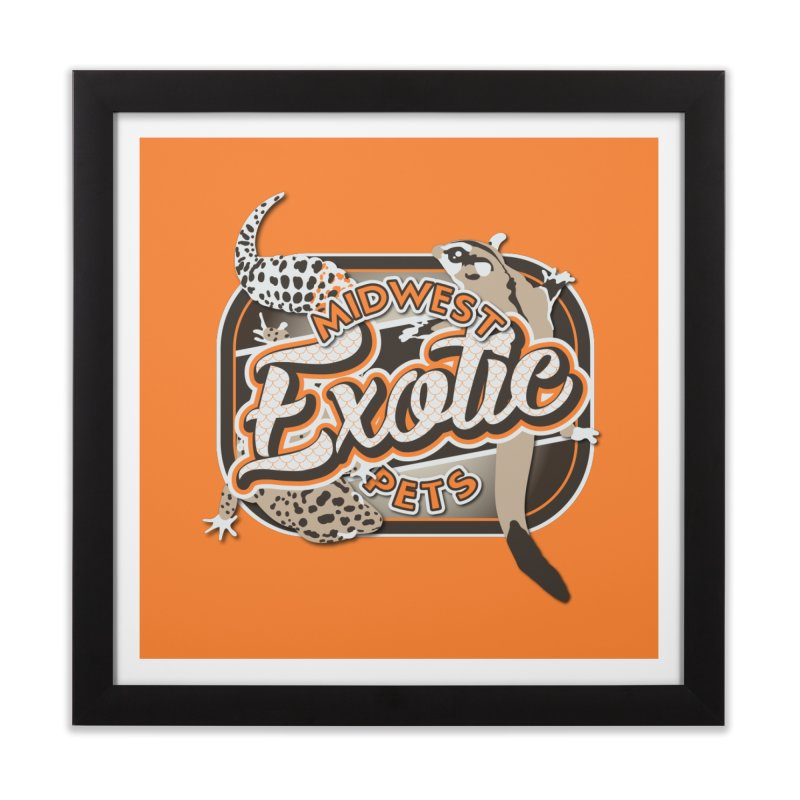 Midwest Exotic Pets Home Framed Fine Art Print by Drawn to Scales