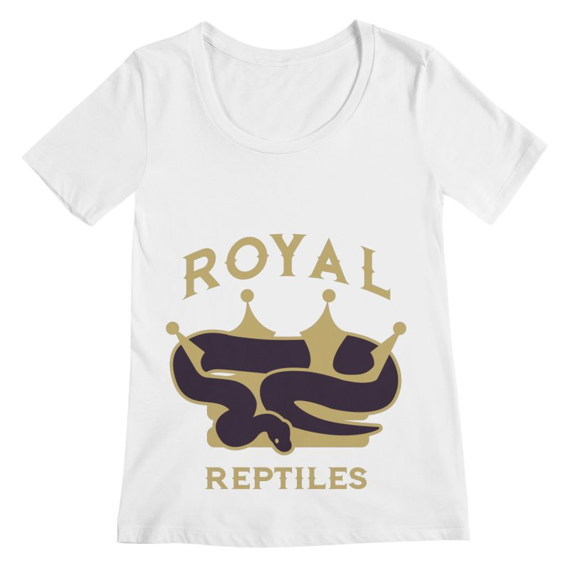 Royal Reptiles Women's Regular Scoop Neck by Drawn to Scales
