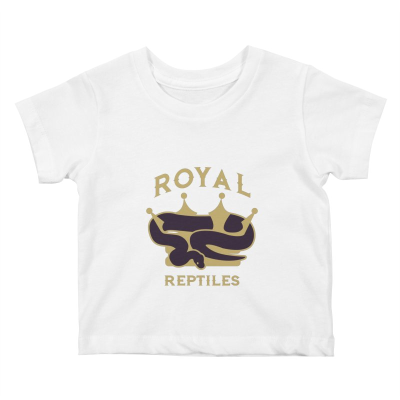 Royal Reptiles Kids Baby T-Shirt by Drawn to Scales
