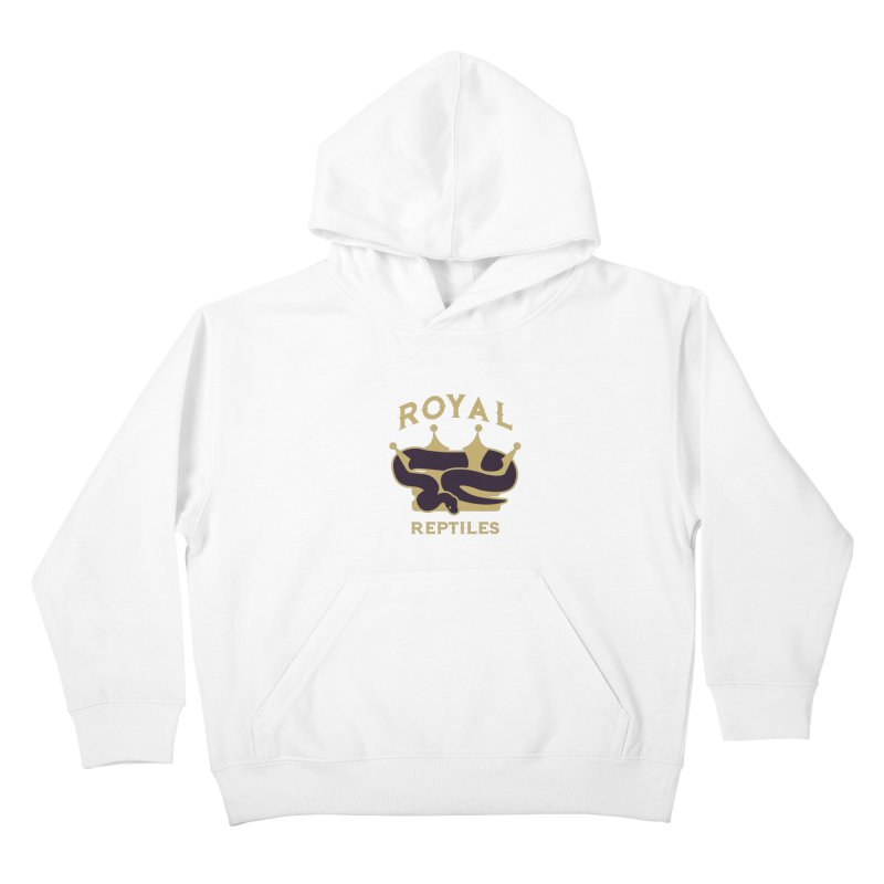 Royal Reptiles Kids Pullover Hoody by Drawn to Scales