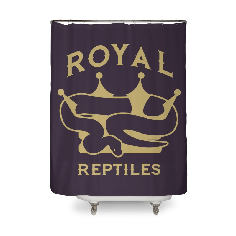Royal Reptiles Home Shower Curtain by Drawn to Scales