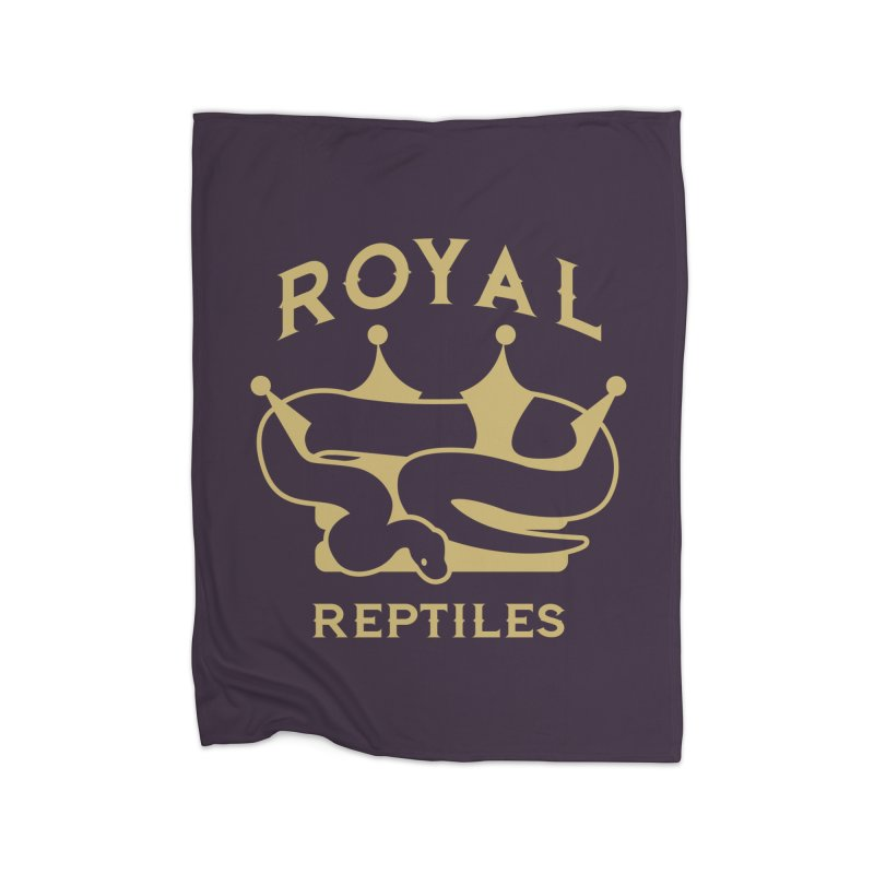 Royal Reptiles Home Blanket by Drawn to Scales