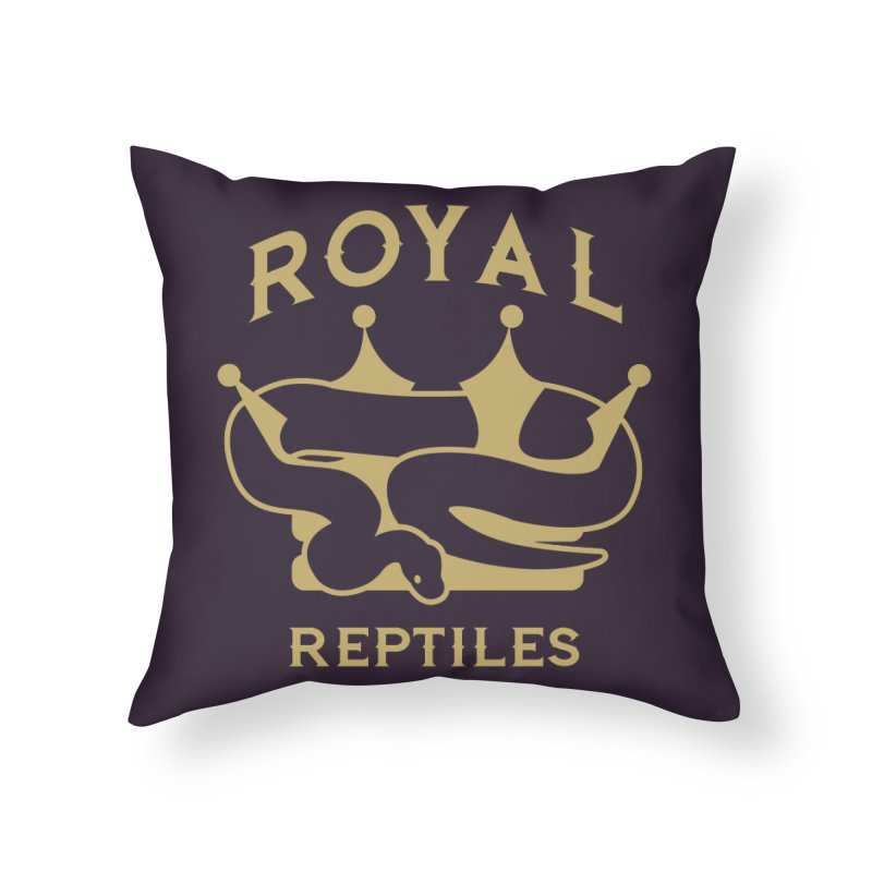 Royal Reptiles Home Throw Pillow by Drawn to Scales