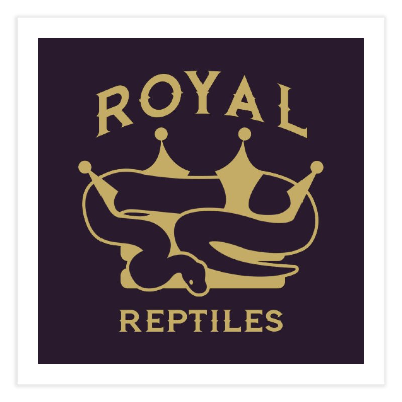 Royal Reptiles Home Fine Art Print by Drawn to Scales