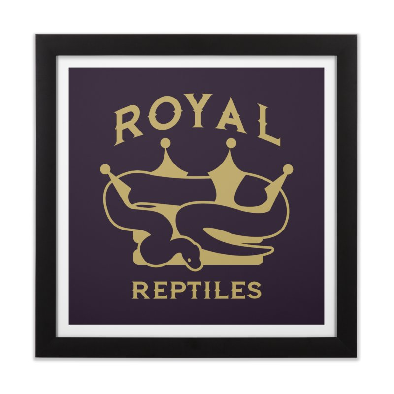 Royal Reptiles Home Framed Fine Art Print by Drawn to Scales