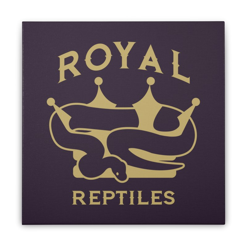Royal Reptiles Home Stretched Canvas by Drawn to Scales