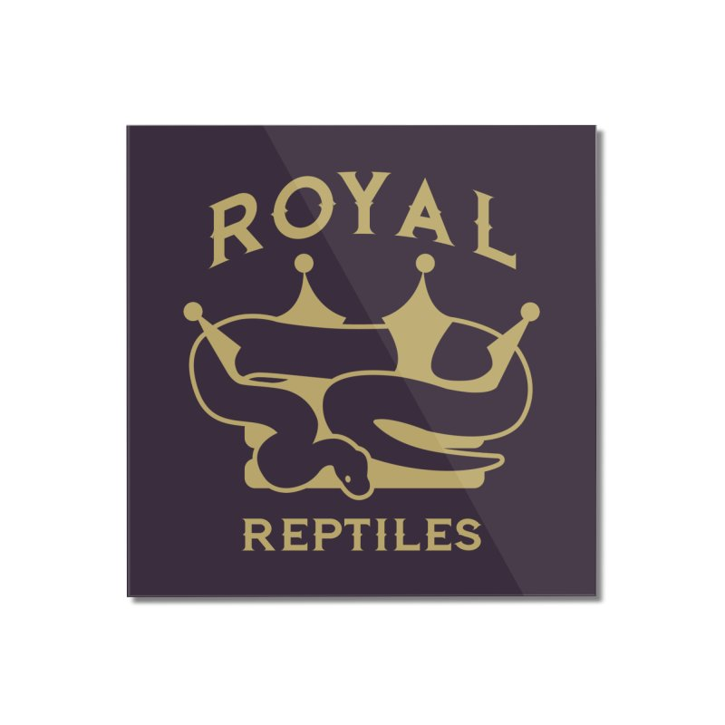 Royal Reptiles Home Mounted Acrylic Print by Drawn to Scales