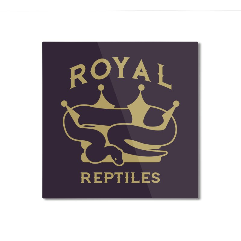 Royal Reptiles Home Mounted Aluminum Print by Drawn to Scales