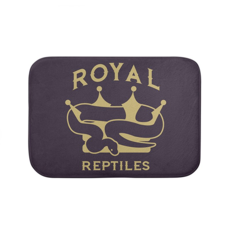 Royal Reptiles Home Bath Mat by Drawn to Scales