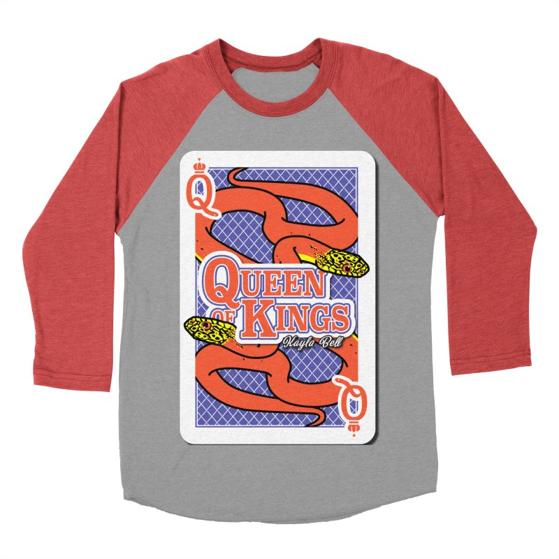 Queen of Kings Women's Baseball Triblend Longsleeve T-Shirt by Drawn to Scales