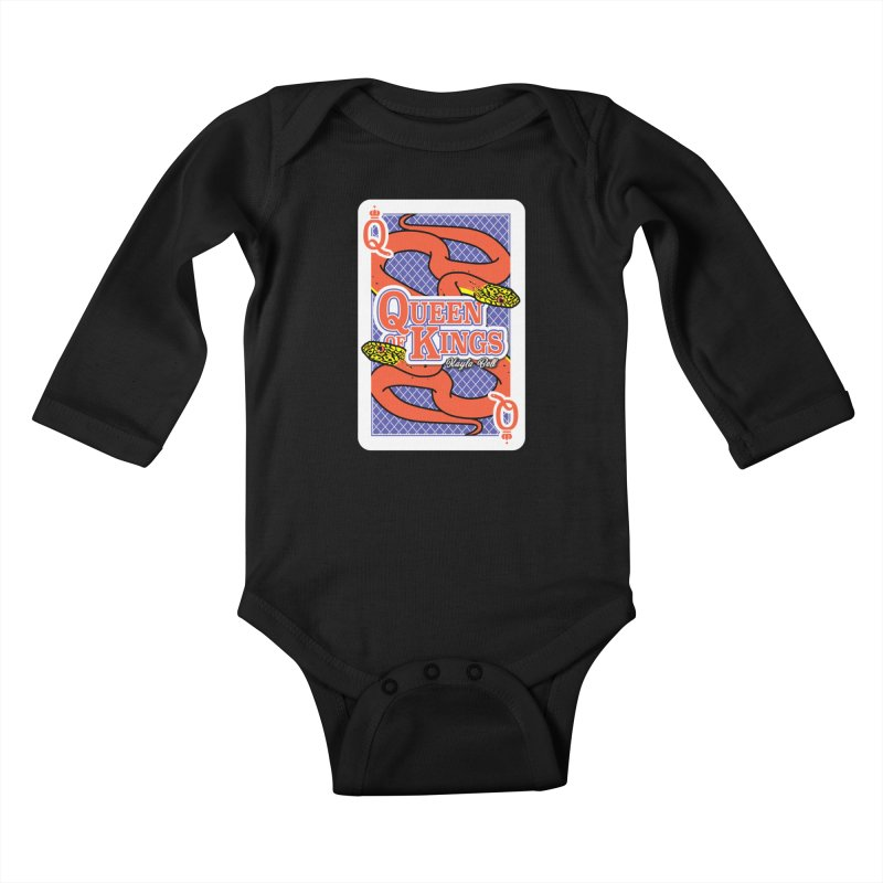 Queen of Kings Kids Baby Longsleeve Bodysuit by Drawn to Scales
